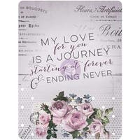 "Lavender Journaling Cards Pad 3""X4"" 45/Pkg-15 Designs/3 Each"