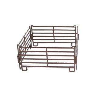 Little Buster Toy Heavy Duty Metal 4pc Cattle Panel Set Brown 500203