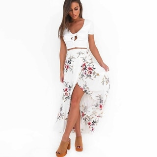 Link to Floral Front Open Long Skirt Wrap Skirt Similar Items in Skirts