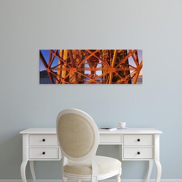 Easy Art Prints Panoramic Images's 'Golden Gate Bridge San Francisco CA USA' Premium Canvas Art