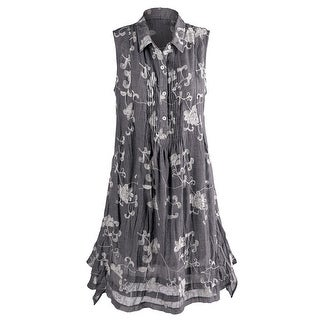 Women's Evangeline Embroidered Dress - Sleeveless - Floral Print