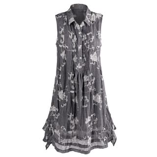 Women's Evangeline Embroidered Dress - Sleeveless - Floral Print|https://ak1.ostkcdn.com/images/products/is/images/direct/d0d8c24b17cf0e1eb6c9089348bda9aff5937a67/Women%27s-Evangeline-Embroidered-Dress---Sleeveless---Floral-Print.jpg?impolicy=medium