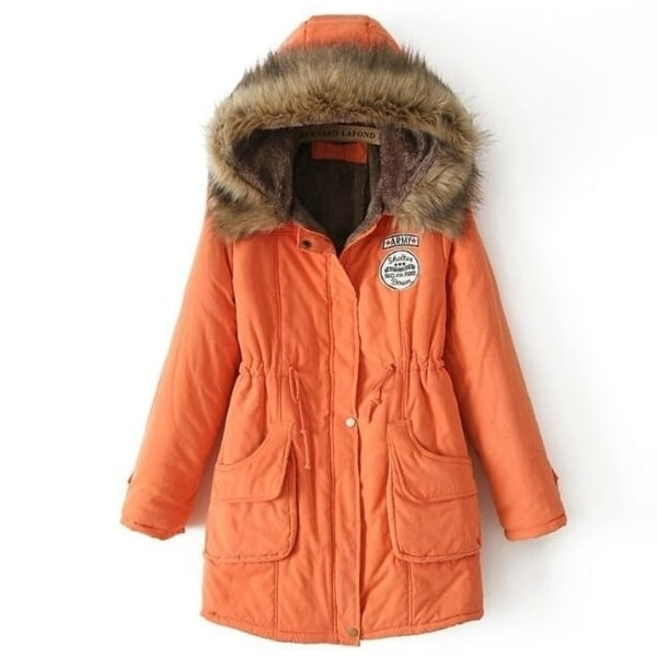 Womens Hooded Warm Winter Thicken Fleece Lined Parkas Long Coats. Opens flyout.