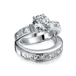 Bling Jewelry 925 Silver 2ct CZ Round Princess Engagement Wedding Ring Set|https://ak1.ostkcdn.com/images/products/is/images/direct/d0d92edded441a75bb565301746e0ddb90b06ab5/Bling-Jewelry-925-Silver-2ct-CZ-Round-Princess-Engagement-Wedding-Ring-Set.jpg?impolicy=medium