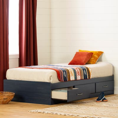 South Shore Asten Twin Mates Bed with 3 Drawers