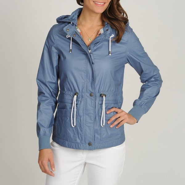 Buffalo Women's Anorak with Hood and Drawstring at Waist and Hem