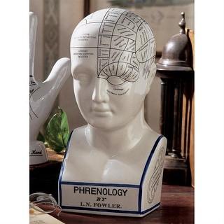 Design Toscano Porcelain Phrenology Head Statue