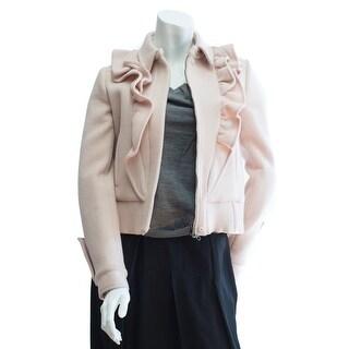 Valentino Women's Ruffled Wool Slim Fit Peacoat SizeE42/US6 - 6