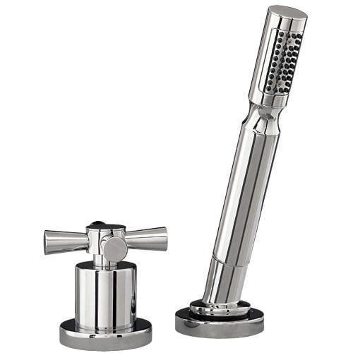 Mirabelle MIRML2RTD Milazzo Single Function Deck Mounted Hand Shower with Diverter