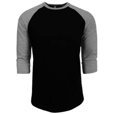 25d9f344 NE PEOPLE 3/4 Sleeve Baseball Tshirt Raglan Jersey Shirt [NEMT06]