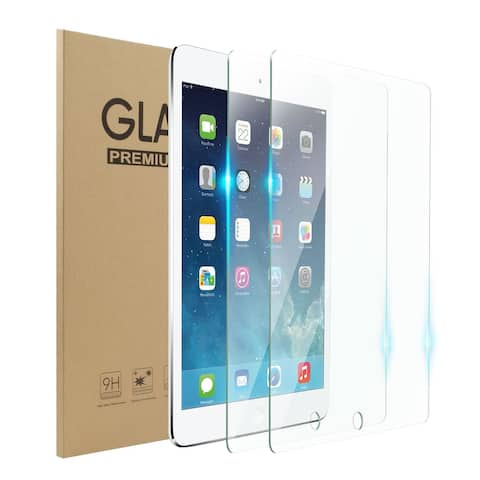 """2-Pack Tempered Glass LCD Screen Protector Film Cover For Apple iPad 9.7"""" (2017)/9.7"""" (2018)/Air/Air 2/Pro 9.7"""""""