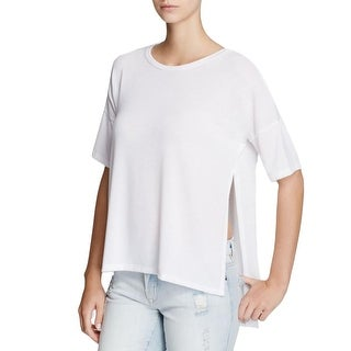 Project Social T Womens My Favorite Tee Tunic Top Knit Side Slit