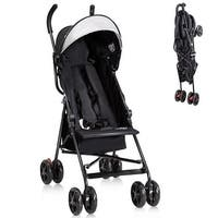 Costway Lightweight Umbrella Baby Stroller Toddler Travel Sun Canopy Storage Basket - Black