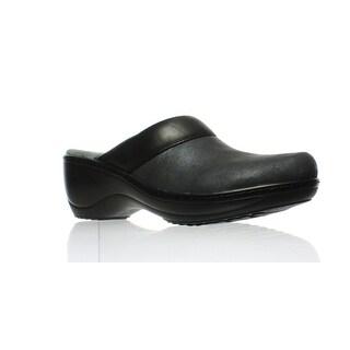 Softwalk Womens Murietta Black Distress Clogs Size 11 (AA,N)