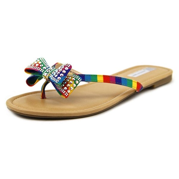 INC International Concepts Malissa Women Canvas Multi Color Thong Sandal