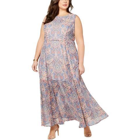 Tommy Hilfiger Womens Paisley Maxi Dress