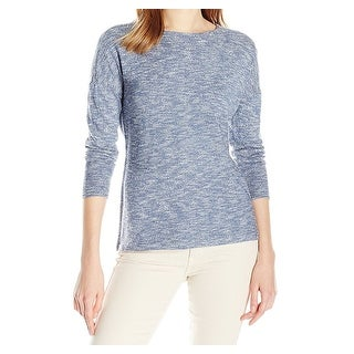 Nic + Zoe NEW Blue Womens Size Large L Pullover Space-Dye Sweater