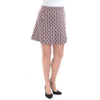 Womens Maroon Black Geometric Casual Skirt Size 14