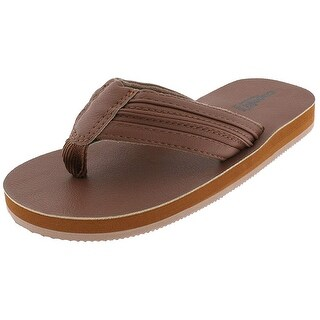 Capelli New York Topstitched Thong on Flocked Boys Flip Flops