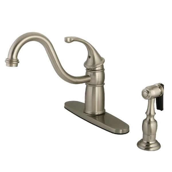 Kingston Brass KB157.GLBS Georgian 1.8 GPM Centerset Kitchen Faucet