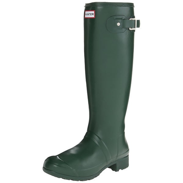 Hunter Womens Hunter Rubber Closed Toe Knee High Rainboots