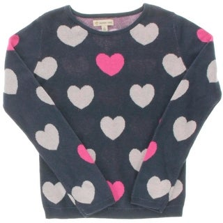 Tucker + Tate Girls Heart Print Pullover Sweater - 6