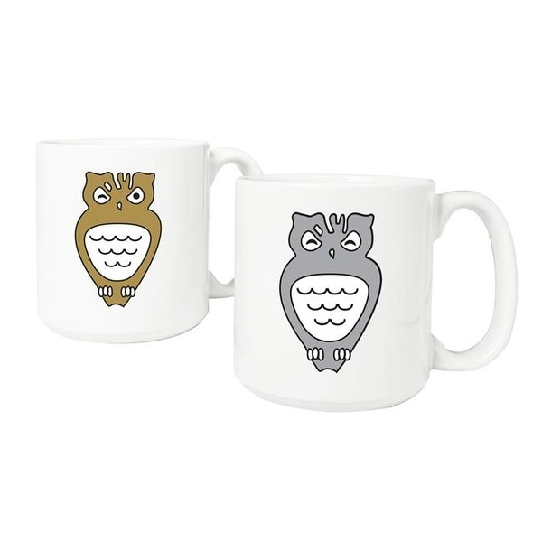 Cathys Concepts Ht16 3900 Ow Owl 20 Oz Large Coffee Mug Set