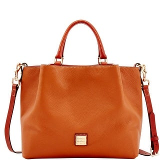 Dooney & Bourke Pebble Grain Large Barlow (Introduced by Dooney & Bourke at $348 in Aug 2017) - Caramel