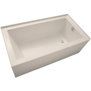 "Mirabelle MIRSKS6032R Sitka 60"" X 32"" Acrylic Soaking Bathtub for Three Wall Alcove Installations with Right Drain"