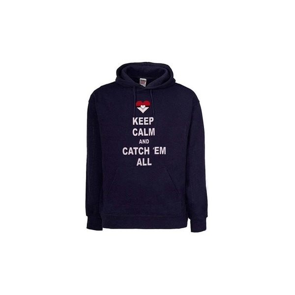 Pokemon Inspired Men's Sweatshirts Poke Keep Calm and Catch em all. Opens flyout.