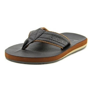 Quiksilver Carver Open Toe Leather Thong Sandal