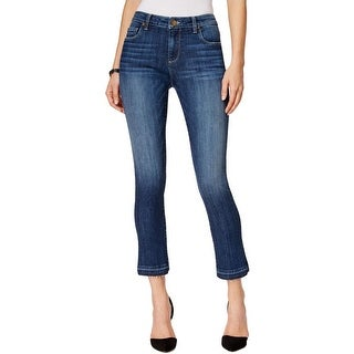 Kut From The Kloth Womens Reese Straight Crop Jeans Denim Released Hem