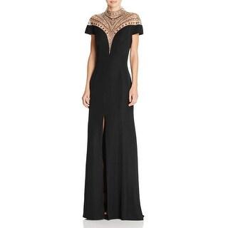Tadashi Shoji Womens Formal Dress Short Sleeve Beaded - 10