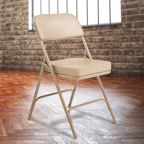 NPS 3200 Series Premium Vinyl Upholstered Folding Chair (Set of 2)