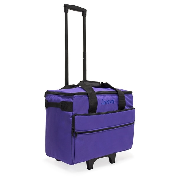 "Luova 19"" Rolling Sewing Machine Trolley in Purple"