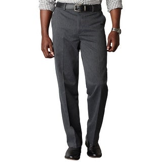 Dockers Signature Khaki Classic Fit Chinos Pants Charcoal Grey 34 x 32