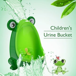 Costway New Cute Frog Potty Training Urinal for Boys with Funny Aiming Target (green) - Green