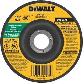 DeWalt 4X1/8 Msnry Grind Wheel