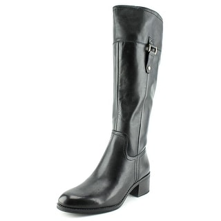 Franco Sarto Lizbeth Women Round Toe Leather Black Knee High Boot