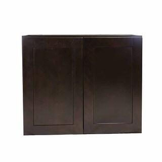 """Design House 569038 Brookings 33"""" Wide x 36"""" High Double Door Kitchen Cabinet - ESPRESSO"""