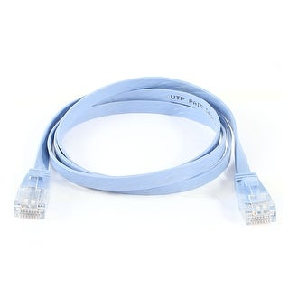 Unique Bargains 1M RJ45 8P8C Male to Male Plug CAT5E LAN Ethernet Flat Network Cable Pale Blue