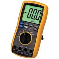PYLE PRO PDMT38 Digital LCD AC, DC, Volt, Current, Resistance & Range Multimeter with Rubber Case, Test Leads & Stand