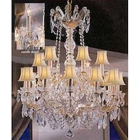 Maria Theresa Crystal Chandelier With Swarovski Crystal 18 Lights - Gold