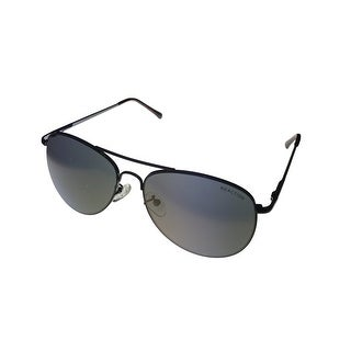 Kenneth Cole Reaction Mens Sunglass KC1268 8C Gunmetal Metal Aviator Brown Lens - Medium