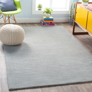 Hand-loomed Rebecca Solid Casual Area Rug