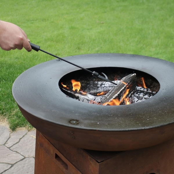 Shop Sunnydaze Steel Black Outdoor Camping Fire Pit And