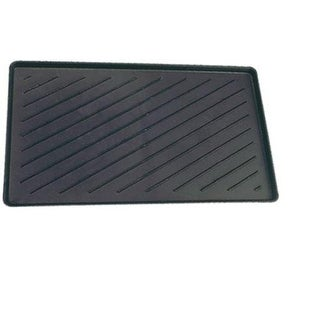 "Dennis LK1424M Poly Boot Tray, 14-1/4"" x 24-1/4"", Black"