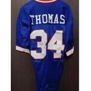 Signed Thomas Thurman Buffalo Bills Thurman Thomas Buffalo Bills Authentic Jersey Size 40  Light Cr