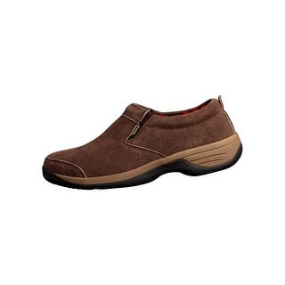 Old Friend Slippers Mens Comfy Flat Round Chocolate Brown 588170