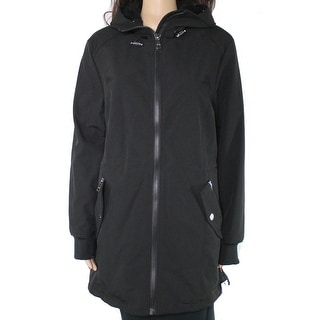 Link to Calvin Klein Women's Jacket Black Size Large L Hooded Fleece Interior Similar Items in Women's Outerwear